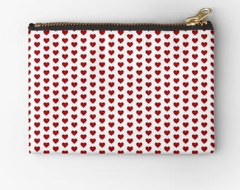 Heart Motif Coins/cash, Cards, Lip gloss, Keys pouch [6 x 4 inch]