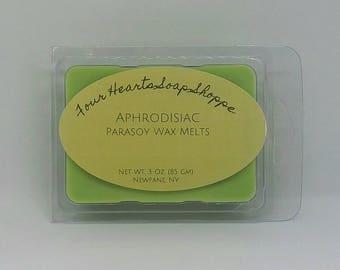 Wax melt, Aprhrodisiac scent, wax tart, clamshell wax melt, soy wax, wax warmer