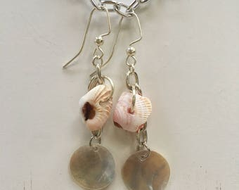 Opalescent Natural Shell Earrings