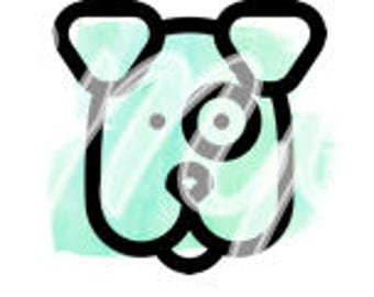 Instagram Story Highlight Cover Icon - Mint Water Color Dog