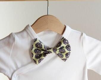 yellow baby bow tie, clip-on baby bow tie, elegant bow tie, pattern bow tie, stylish bow tie, purple bow tie, wedding bow tie, groom bow tie
