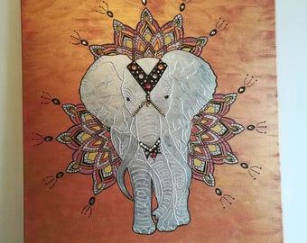 ELEPHANT Mandala Indian style