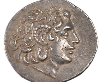 thrace byzantion alexander iii macedonia tetradrachm au(55-58) silver...