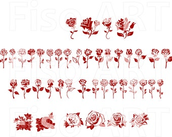 JPG,CDR,PDF Roses for engraving printing.....