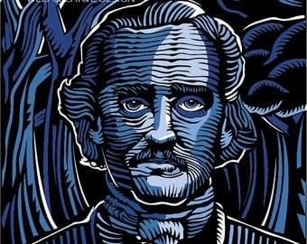 Edgar Allan Poe Digital Illustration