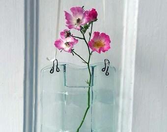 Fused Glass Single Flower Vase
