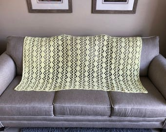 Yellow Shell Pattern Afghan