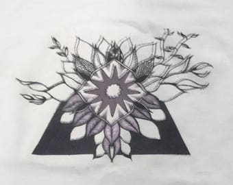 Floral Geometric Design - T-Shirt