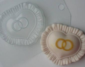 Soap molds, Soap mold, Form for chocolate, Forms for chocolate, the Icetray, Plastic forms, Heart, 2 rings, the Wedding, Love