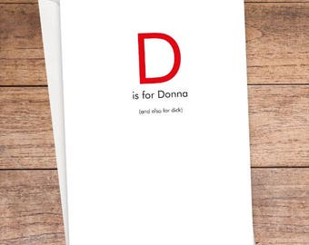 D is For... Card