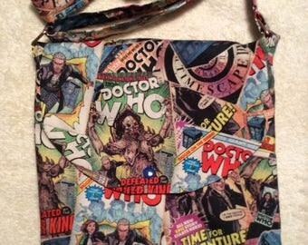 Dr. Who Classic Comic Book Covers Adjustable Shoulder Bag
