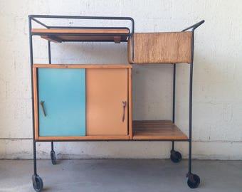 FREE SHIPPING Aruthur Umanoff  Mid Century Modern Bar Cart