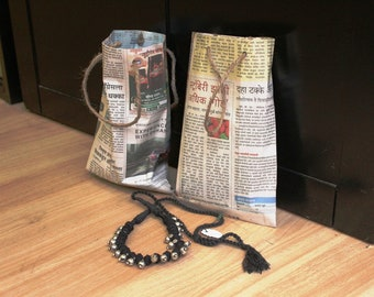Set of 100 Pcs- Small Handmade Newspaper Bags. Sellers can use these bags to give their products. Free Shipping anywhere in the World