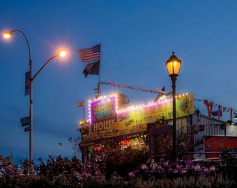 CONEY ISLAND CLAMS - art photography, wall art, home decor, Coney Island, restaurant