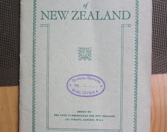 1930ies  The SPAS of NEW ZEALAND Travel  Gude  booklet  , English language