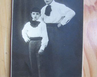 Circus Artist and son photo Poscard  from 1920ies