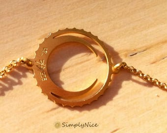 Moon Bracelet - Silver Gold Plated