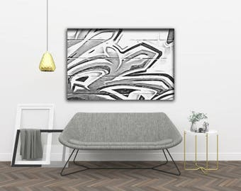 GM 24 - Streets To Canvas - Custom Graffiti Name Sign, Graffiti Art Canvas Print, Personalized Canvas Wall Art, Abstract Graffiti Canvas