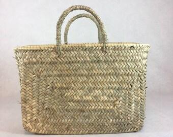 Basket - Rectangle basket - basket trend - straw basket - basket - basket Beldi - Grocery Shopping bag - bag Trend - basketball bag