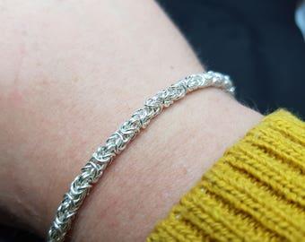Handmade bespoke byzantine bracelet