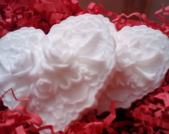 Heart Soap *Melt and Pour* Goats Milk Soap Base *Unscented and Fragrance Free* Sensitive skin
