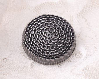 24mm round button 10pcs chain spiral large light black button sewing coat button
