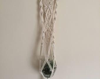 Macramé plantpot hanger - Diamond twist