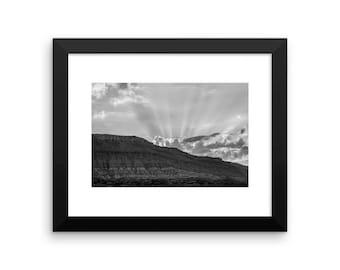 Framed desert sunrise print