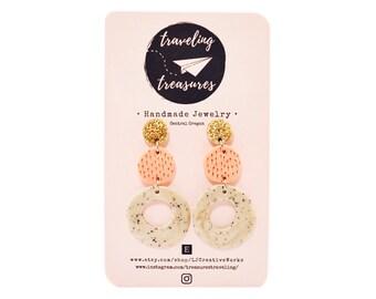 Lightweight handmade dangling stud earrings
