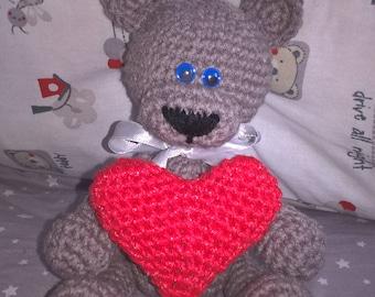 Knitted teddy bear аmigurumi