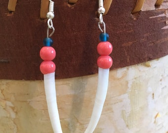 Single Shell Dentalium Earrings