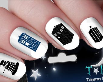 Dr who nail etsy dr who tardis whovian nail art wraps water transfers nails decals nail stickers ti16 prinsesfo Choice Image