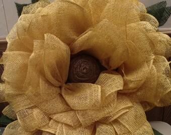 """12"""" Sunflower Wreath"""