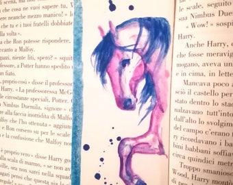 "Bookmark/Segnalibro ""Violet horse"""