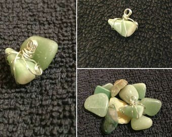 Green Aventurine - Wire Wrapped Pendant