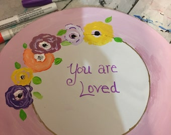 Custom baby shower or briadal shower accent plate