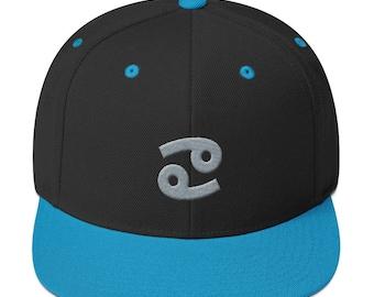 Cancer Zodiac Sign Snapback Hat
