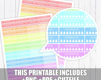 Pastel Hydrate Stickers