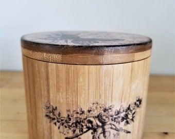 Decoupage wooden box. Jewelry box.