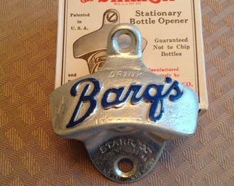 Vintage Barq's Root Beer Soda Wall Mount Bottle Opener Starr X in Box