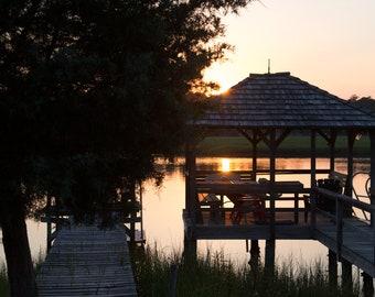 Dock at Sunset: Pawleys Island, South Carolina
