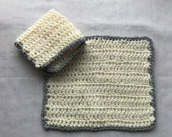 Set of 2 dish/wash cloths