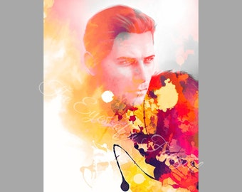 Cullen Rutherford Watercolor Splash Dragon Age Inquisition