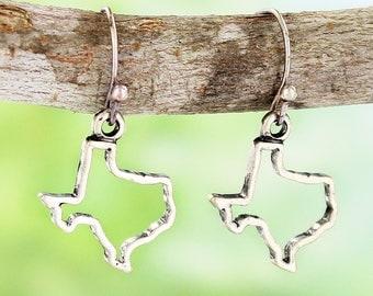 Texas Earrings, Women's Texas Shape Earrings, Women's Texas Jewelry, Texas Gift, Texas Earrings, Lone Star State