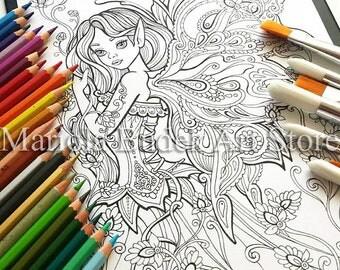 Fairy | Mariola Budek - Coloring Page
