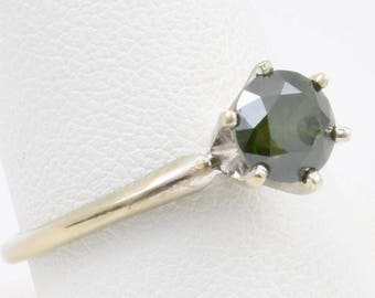 1.40 ct Green Diamond with 14k White Gold Setting