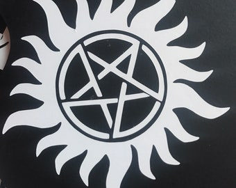 Supernatural Anti-Possesion Symbol Inspired Vinyl Decal