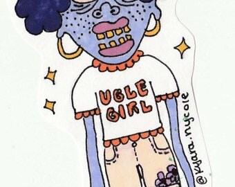 ugle girl sticker