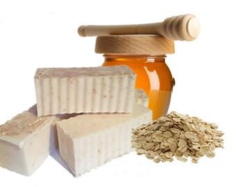 Handmade Oatmeal Honey Bar Soap