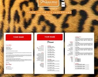 Resume Design Creative Template 5 Professional  | Resume Writing | Cover Letter | Resume Design Service | Resume Design Package
